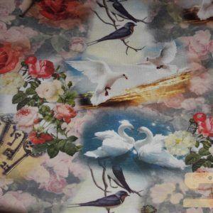 Digitale tricot romantische print