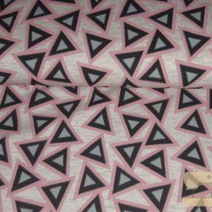 Triangels grijs roze mint