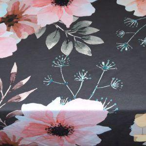 Mies en Moos poppy flower donkergrijs