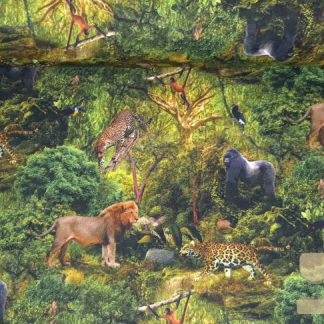 French terry jungle adventure digitale print