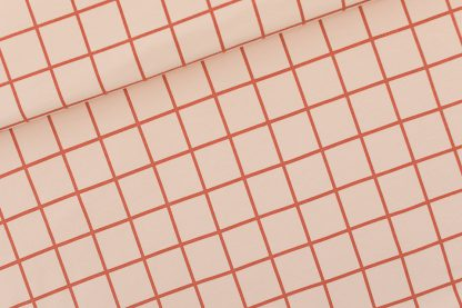 Grid (see you at six) french terry evening pink