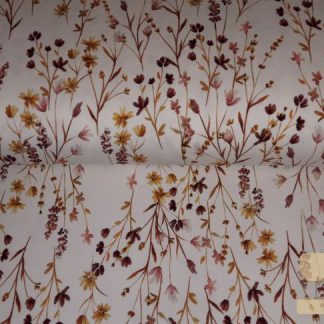 Jersey wild floral family fabrics