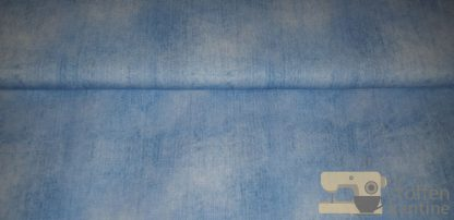 Digitale jeanslook french terry licht blauw