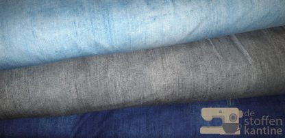 Digitale jeans french terry grijs