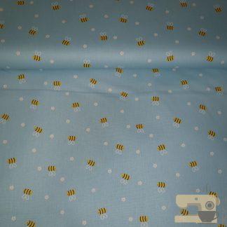 katoen bijtjes lichtblauw