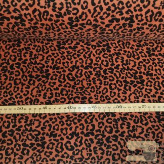 Nicky velours animal print roest