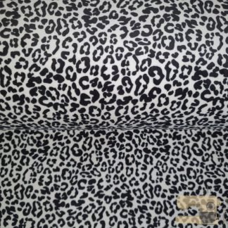 Nicky velours animal print zwart wit