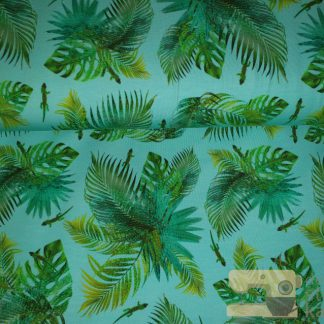 Tricot digitaal Stenzo tropical blauw