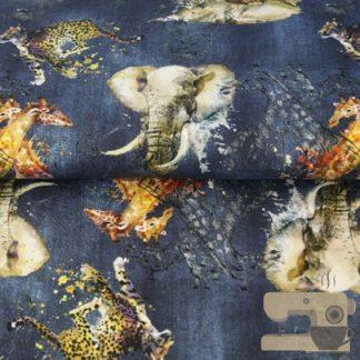 Stenzo jeanslook safari blauw