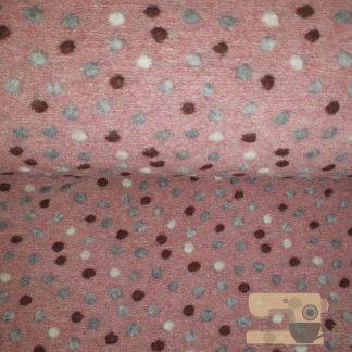 Boiled wool dots roze