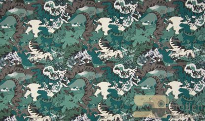 French terry brushed dino dusty green