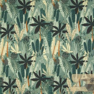 French terry jungle dusty green